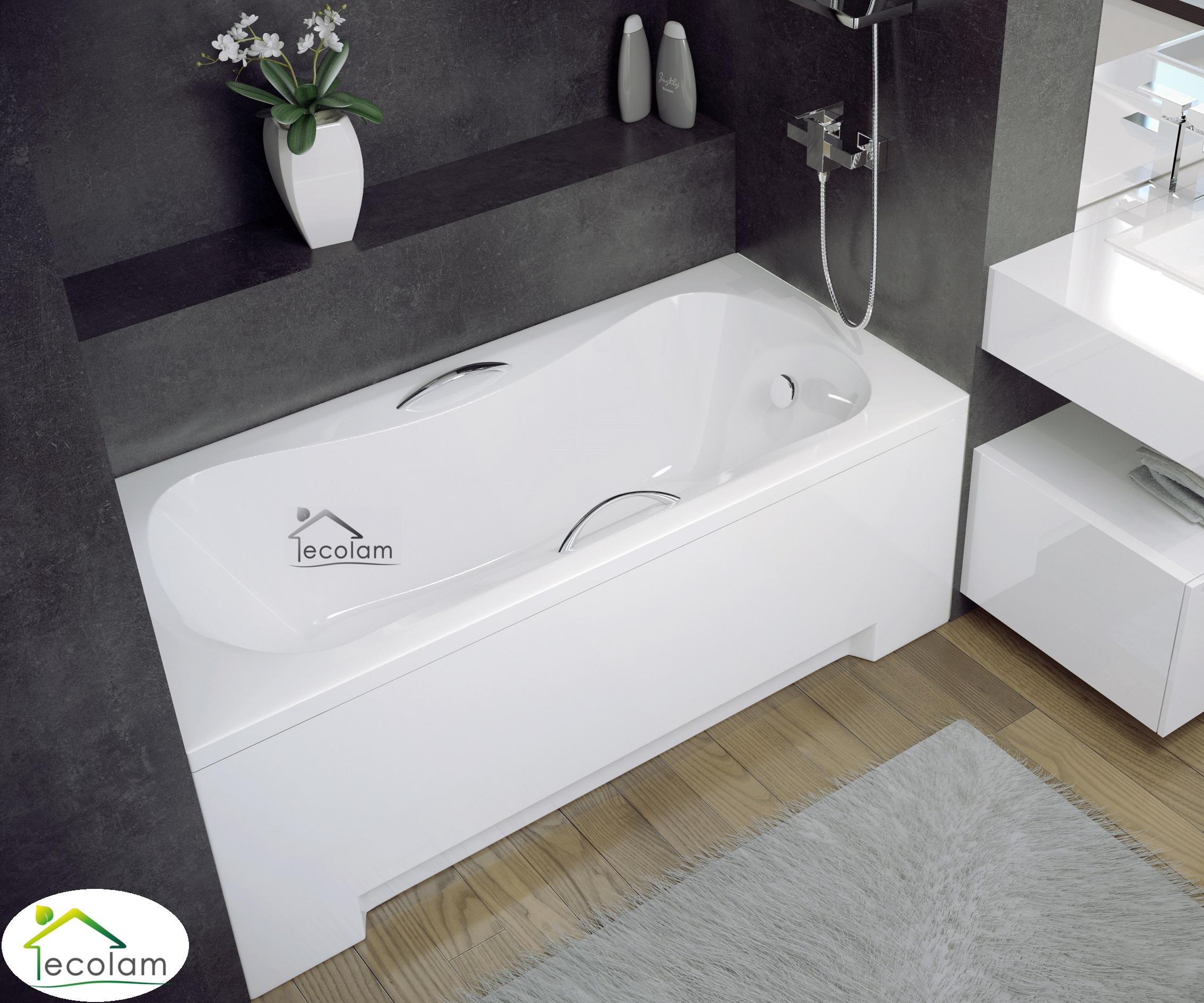 badewanne wanne rechteck 130 x 70 cm sch rze. Black Bedroom Furniture Sets. Home Design Ideas