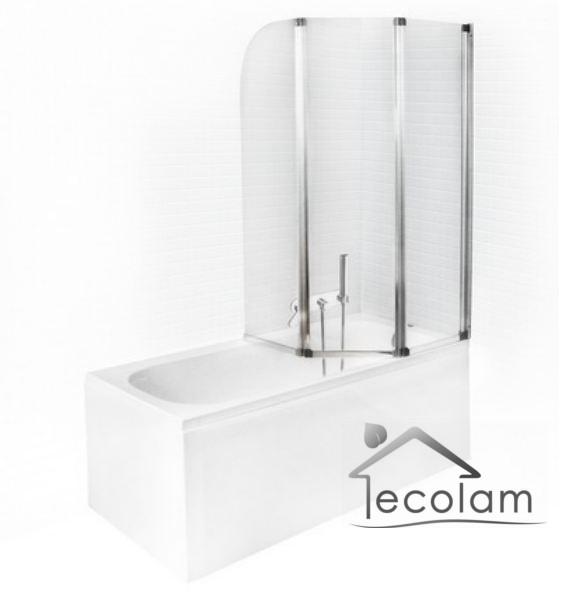 badewanne rechteck badewannenabtrennung duschwand 150 x 70 cm sch rze glas acryl ebay. Black Bedroom Furniture Sets. Home Design Ideas