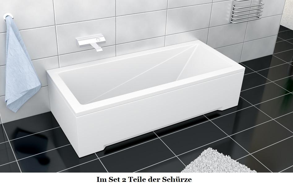 badewanne rechteck eckwanne 160 x 70 cm sch rze armatur wannenarmatur 4 loch m ebay. Black Bedroom Furniture Sets. Home Design Ideas