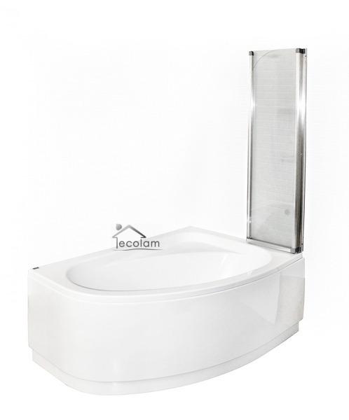 badewanne badewannenabtrennung duschwand eckwanne 140x80. Black Bedroom Furniture Sets. Home Design Ideas