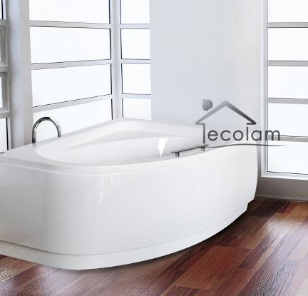 badewanne badewannenabtrennung duschwand glas eckwanne. Black Bedroom Furniture Sets. Home Design Ideas