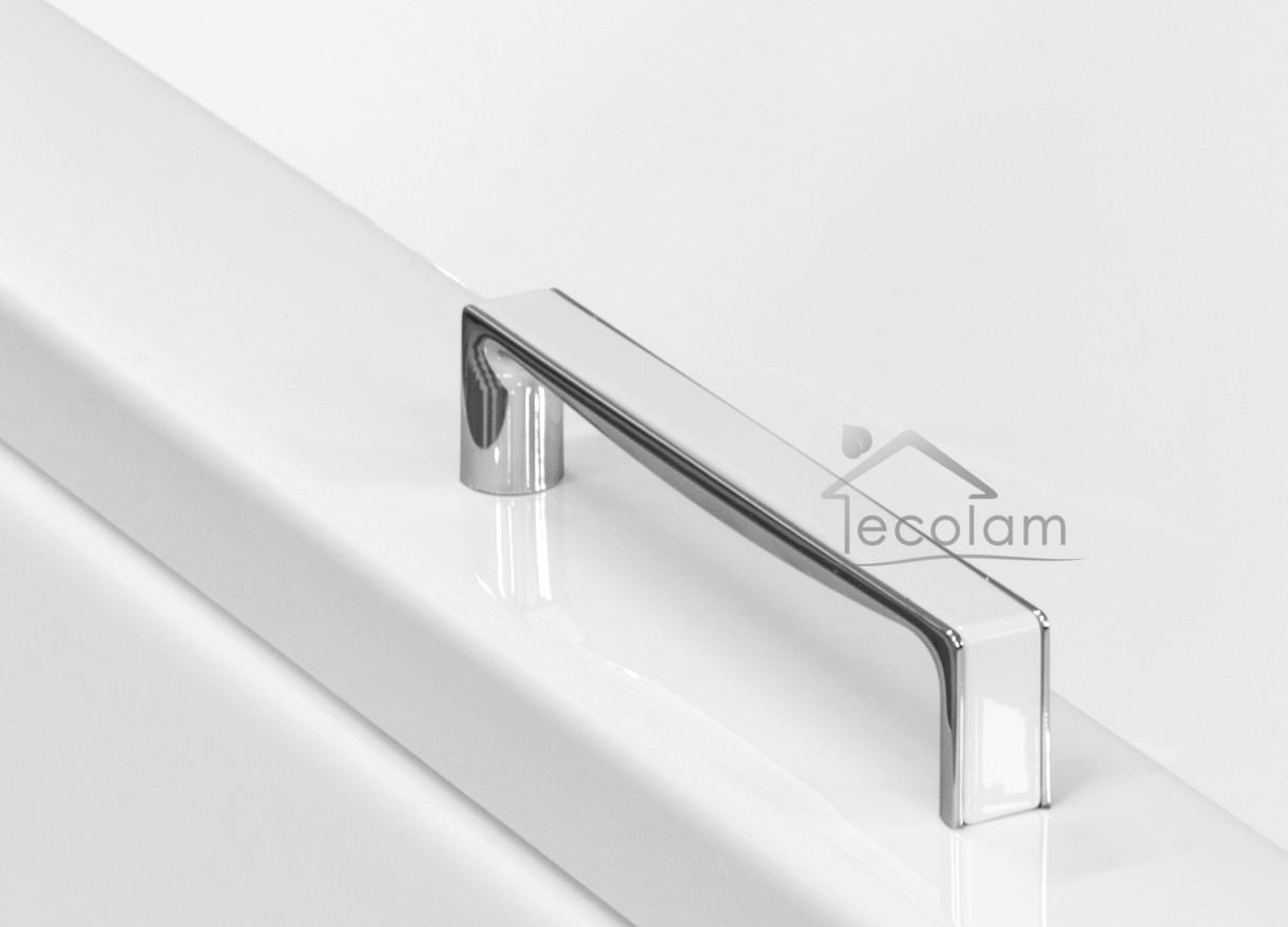 handgriff badewanne haltegriff wannengriff griff 17 cm verchromt wei eckig ebay. Black Bedroom Furniture Sets. Home Design Ideas