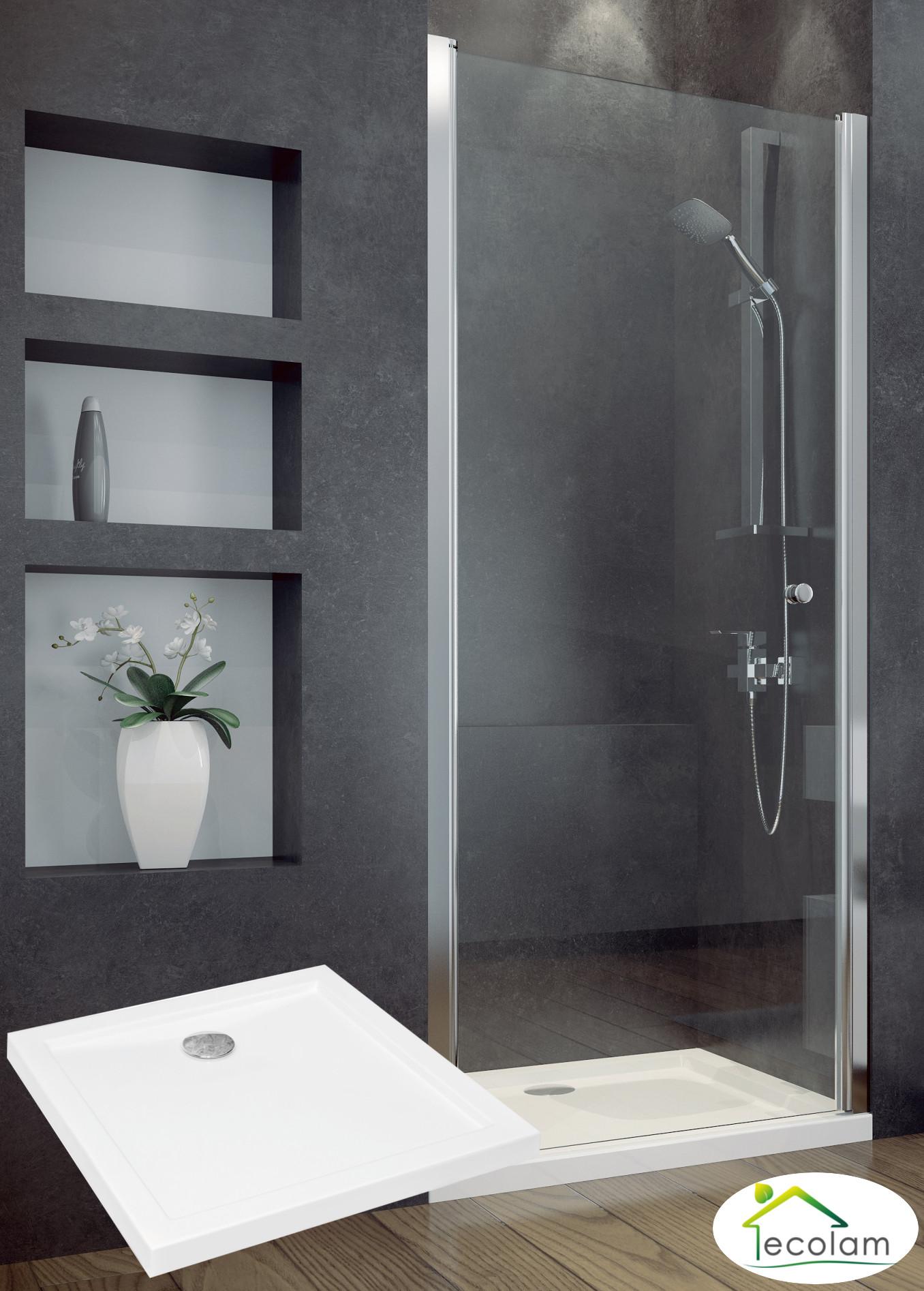 nischent r transparent duscht r duschkabine glas 80 x 195 cm duschwanne 80 x 80. Black Bedroom Furniture Sets. Home Design Ideas