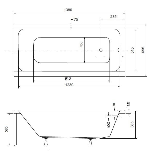 badewanne rechteck 140 x 70 cm badewannenabtrennung glas abtrennung sch rze ebay. Black Bedroom Furniture Sets. Home Design Ideas
