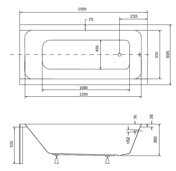 badewanne wanne rechteck 150 x 70 cm sch rze glas abtrennung duschabtrennung ebay. Black Bedroom Furniture Sets. Home Design Ideas
