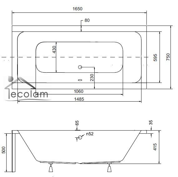 badewanne wanne rechteck styropor 165 x 75 cm. Black Bedroom Furniture Sets. Home Design Ideas