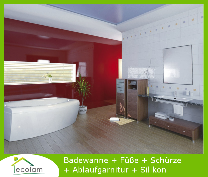 badewanne wanne rechteck acryl 160 x 75 cm sch rze ablauf silikon telimena ebay. Black Bedroom Furniture Sets. Home Design Ideas