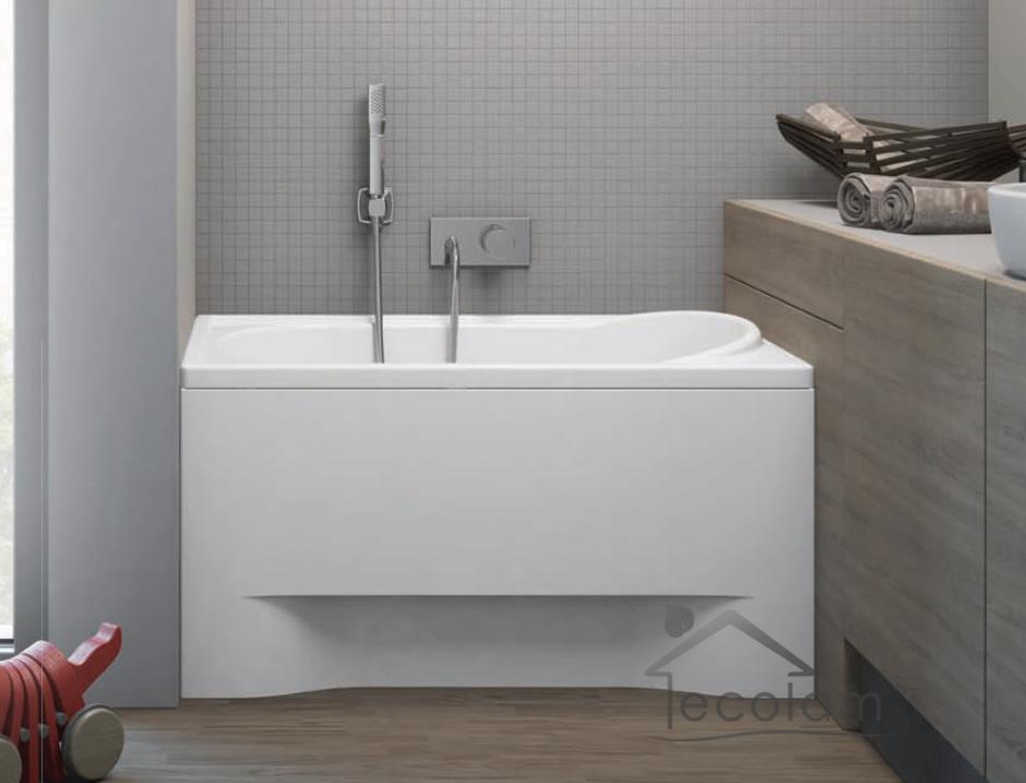 badewanne wanne rechteck acryl eckwanne 100 x 65 cm. Black Bedroom Furniture Sets. Home Design Ideas