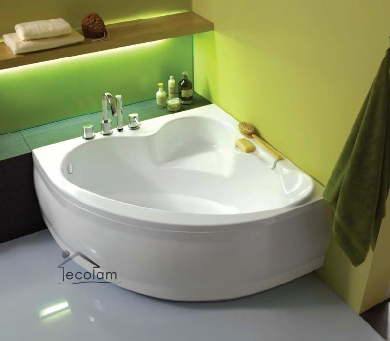 badewanne wanne eck eckbadewanne 120 x 120 cm sch rze ab ber wannenarmatur 4 y ebay. Black Bedroom Furniture Sets. Home Design Ideas
