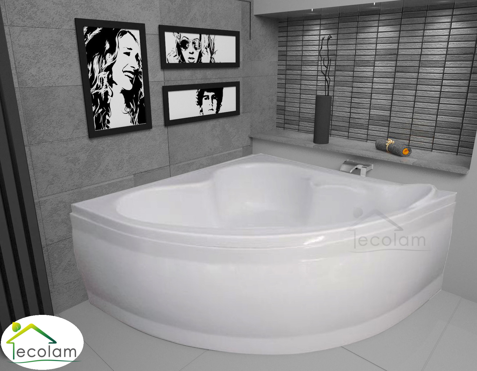 badewanne wanne eckwanne eckbadewanne 120x120 130x130 cm sch rze ablauf ebay. Black Bedroom Furniture Sets. Home Design Ideas