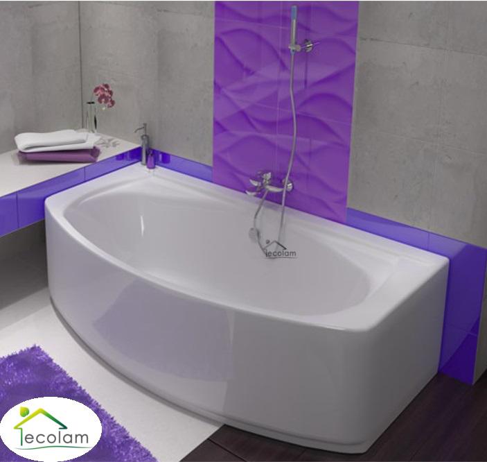 badewanne wanne rechteck eckwanne 180 x 100 cm ohne mit sch rze ablauf silikon ebay. Black Bedroom Furniture Sets. Home Design Ideas