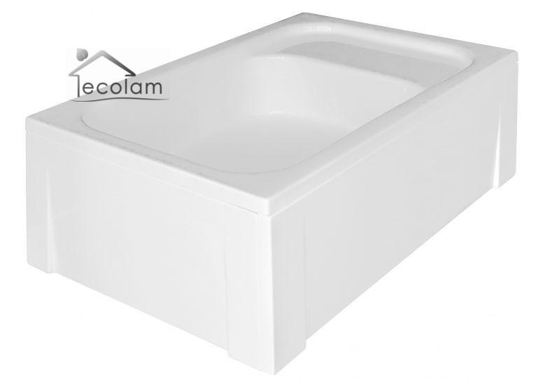 duschwanne duschtasse berlauf viereck acryl 120 x 80 x 26 cm sitz tief ablauf ebay. Black Bedroom Furniture Sets. Home Design Ideas