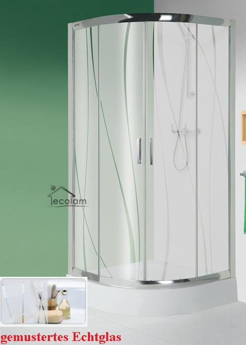 duschkabine duschabtrennung viertelkreis glas 90 x 90 190 cm r55 gemustert kp4 ebay. Black Bedroom Furniture Sets. Home Design Ideas