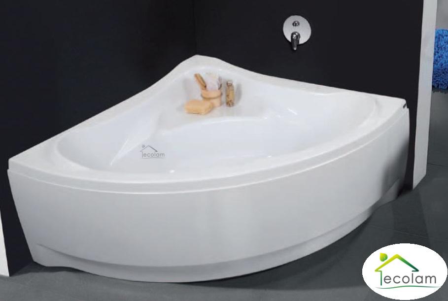 badewanne wanne eckbadewanne 135 x 135 cm sch rze sitz ab. Black Bedroom Furniture Sets. Home Design Ideas
