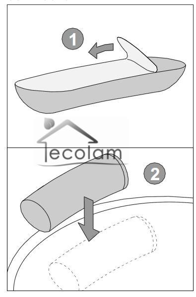 nackenst tze f r badewanne kissen badewannenkissen nackenkissen gelkissen blau ebay. Black Bedroom Furniture Sets. Home Design Ideas