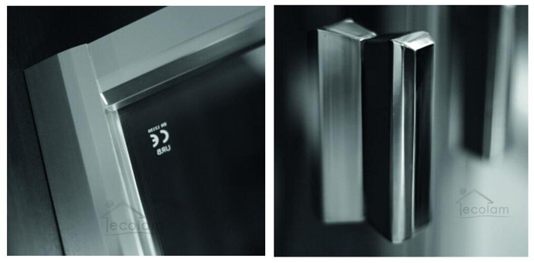 duschkabine dusche viertelkreis glas 80x80 185 r55 streifen gemustert easy clean ebay. Black Bedroom Furniture Sets. Home Design Ideas
