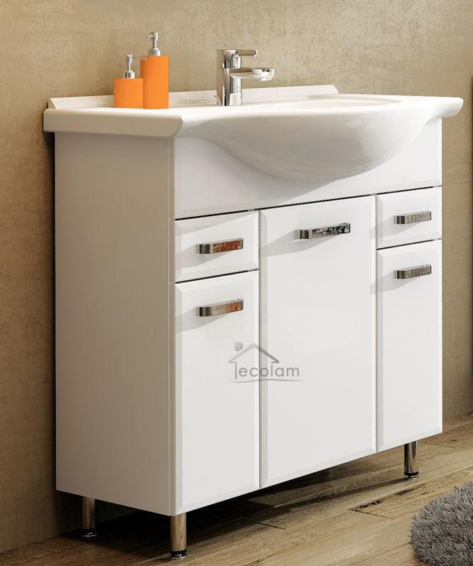 badm bel waschbecken 75 cm waschtisch. Black Bedroom Furniture Sets. Home Design Ideas