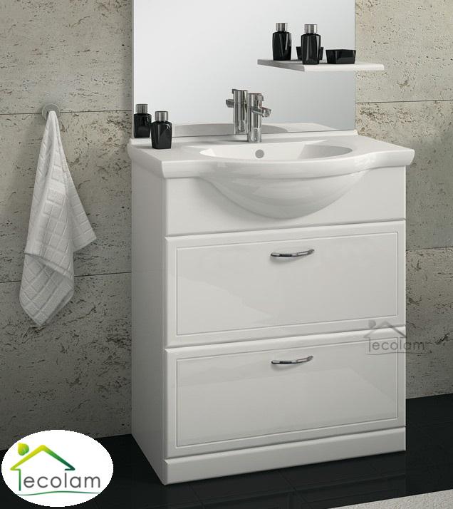 badm bel waschbecken set 65 cm waschtisch waschbeckenunterschrank schublade al ebay. Black Bedroom Furniture Sets. Home Design Ideas