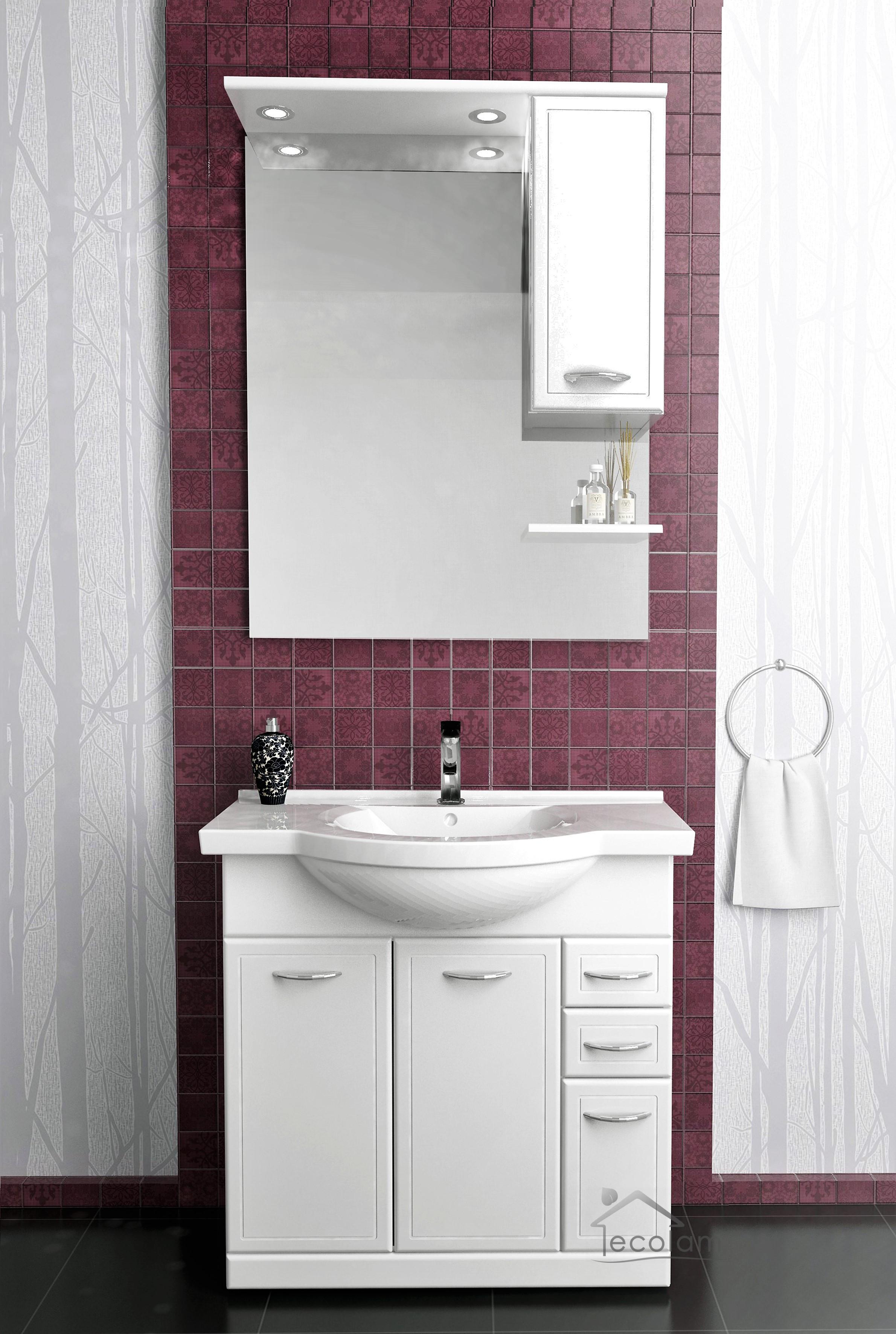 badm bel waschbecken waschtisch 75 cm. Black Bedroom Furniture Sets. Home Design Ideas