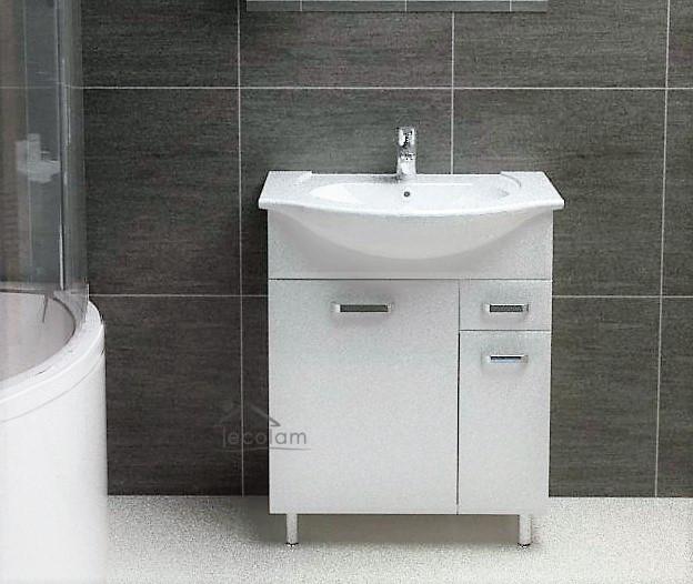 badm bel waschbecken 65 cm waschtisch waschbeckenunterschrank schublade wei ebay. Black Bedroom Furniture Sets. Home Design Ideas