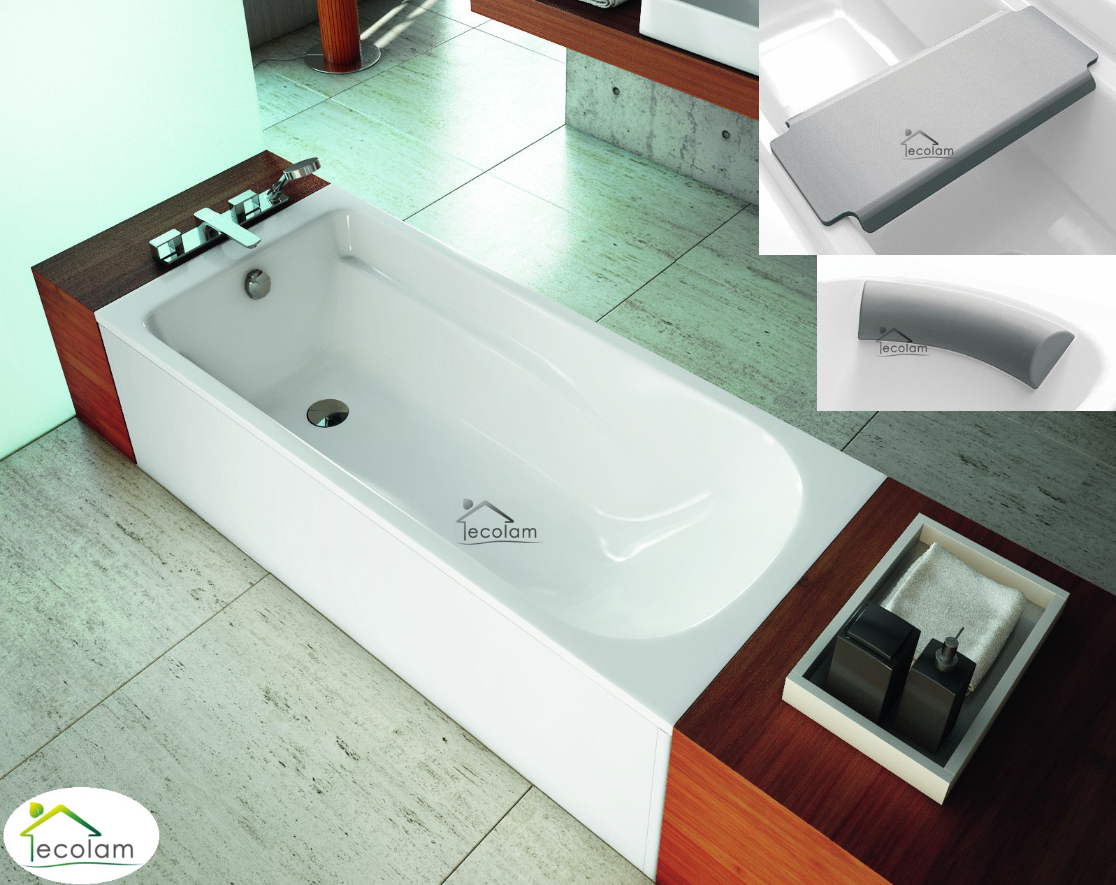 badewanne rechteck wanne 160 x 80 cm f e kopfst tze sitz. Black Bedroom Furniture Sets. Home Design Ideas