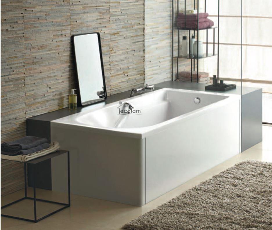 badewanne rechteck wanne 150 x 75 cm sch rze kopfst tze sitz acryl ablauf kolo c ebay. Black Bedroom Furniture Sets. Home Design Ideas