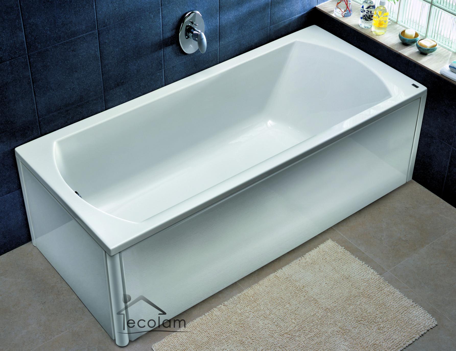 badewanne wanne rechteck 150 x 75 cm ohne mit sch rze ab berlauf acryl kolo p. Black Bedroom Furniture Sets. Home Design Ideas