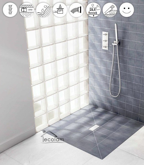 duschwanne duschboard duschelement viereck 100 x 100 cm befliesbar bodengleich ebay. Black Bedroom Furniture Sets. Home Design Ideas