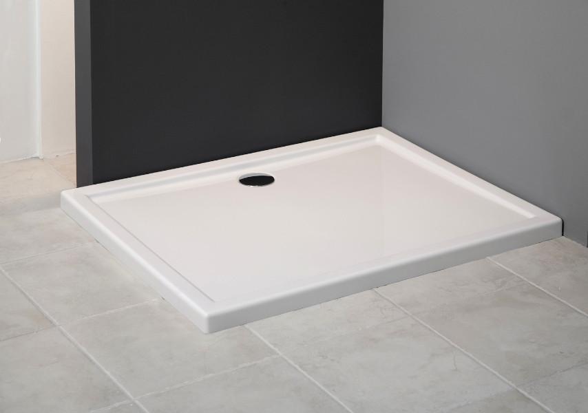 Ablaufgarnitur Dusche Flach : Duschwanne Duschtasse Rechteck flach Dusche Acryl 100 x 80 / 90 x 5,5