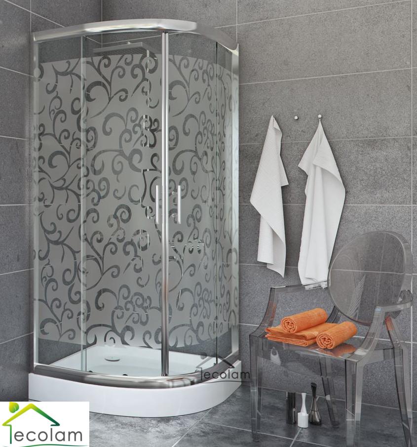 Hervorragend Duschkabine Duschabtrennung Viertelkreis Schiebetür Glas 80x80 185  EM42