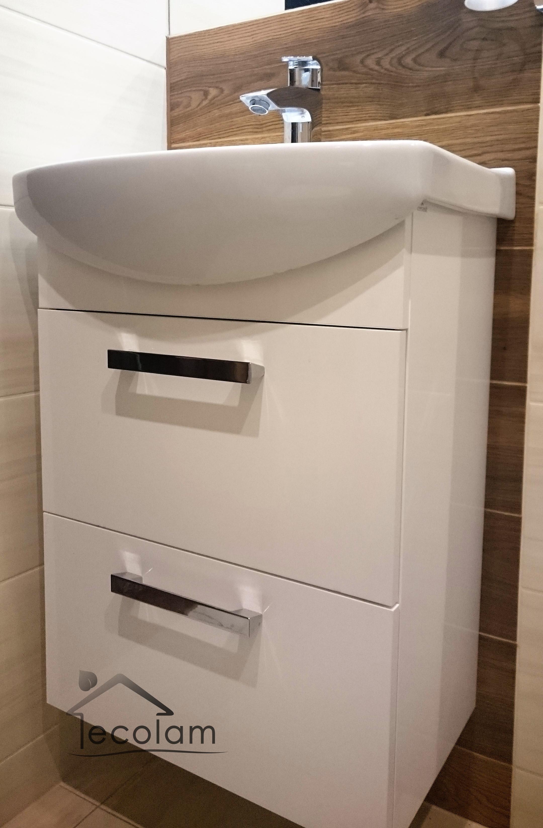 badm bel waschbecken 60 h ngend unterschrank schubladen siphon click clack m c ebay. Black Bedroom Furniture Sets. Home Design Ideas
