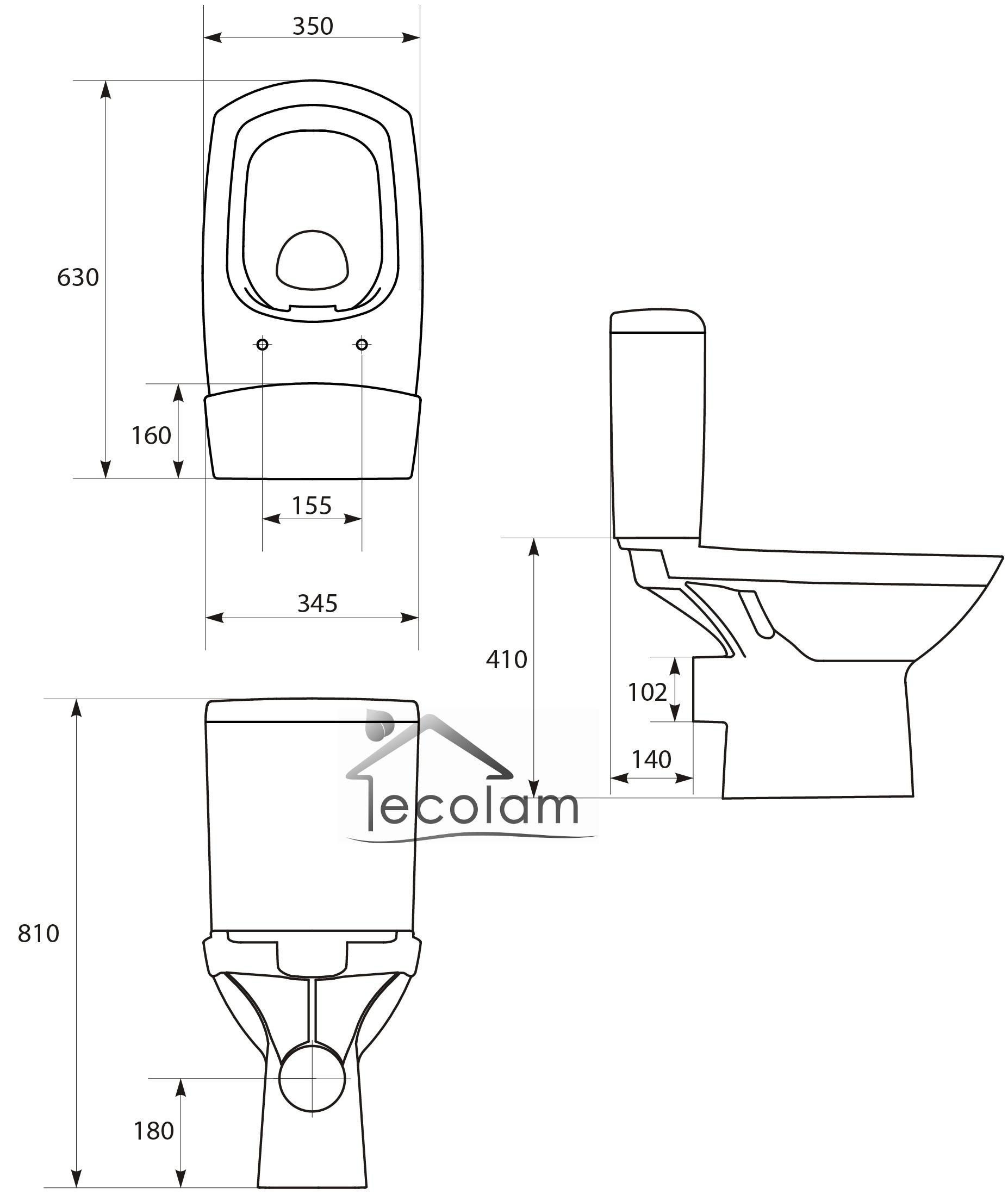 Höhe Wc wc toilette stand tiefspüler spülkasten clean on spülrandlos sitz