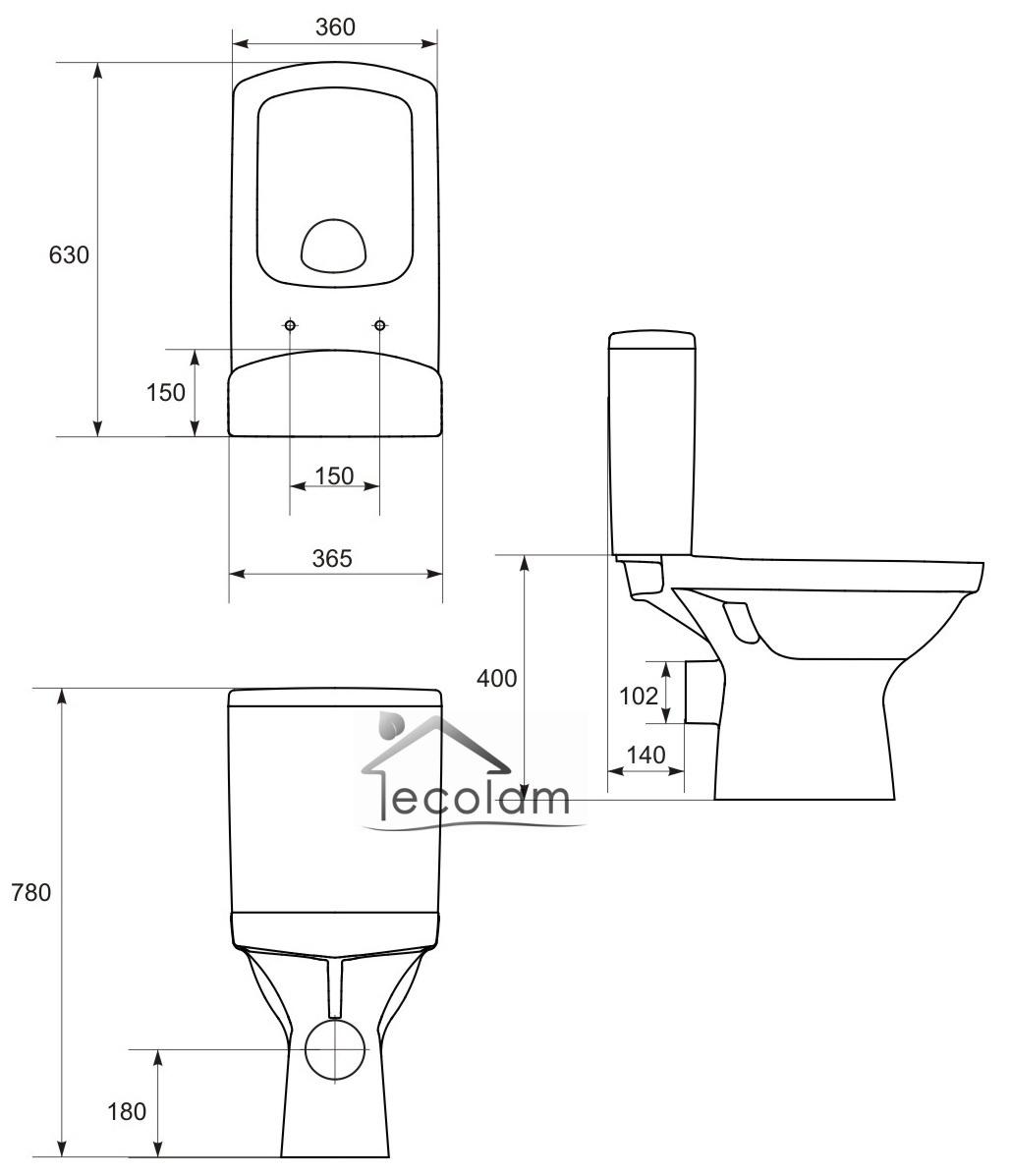 wc toilette stand tiefsp ler sp lkasten clean pro keramik beschichtet sitz 5902574408129 ebay. Black Bedroom Furniture Sets. Home Design Ideas