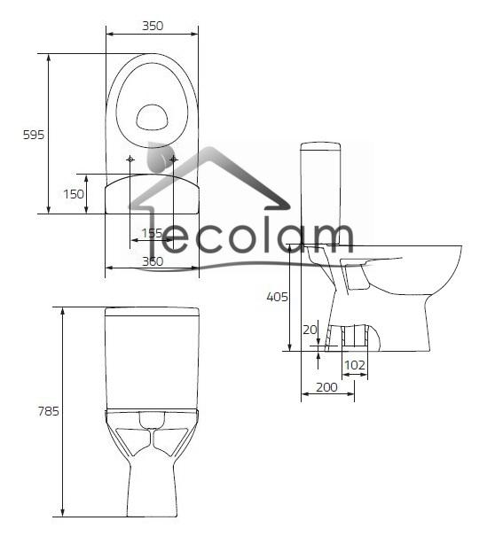 wc toilette stand tiefsp ler bodenstehend sp lkasten sitz soft close cersanit p 5902574404862 ebay. Black Bedroom Furniture Sets. Home Design Ideas