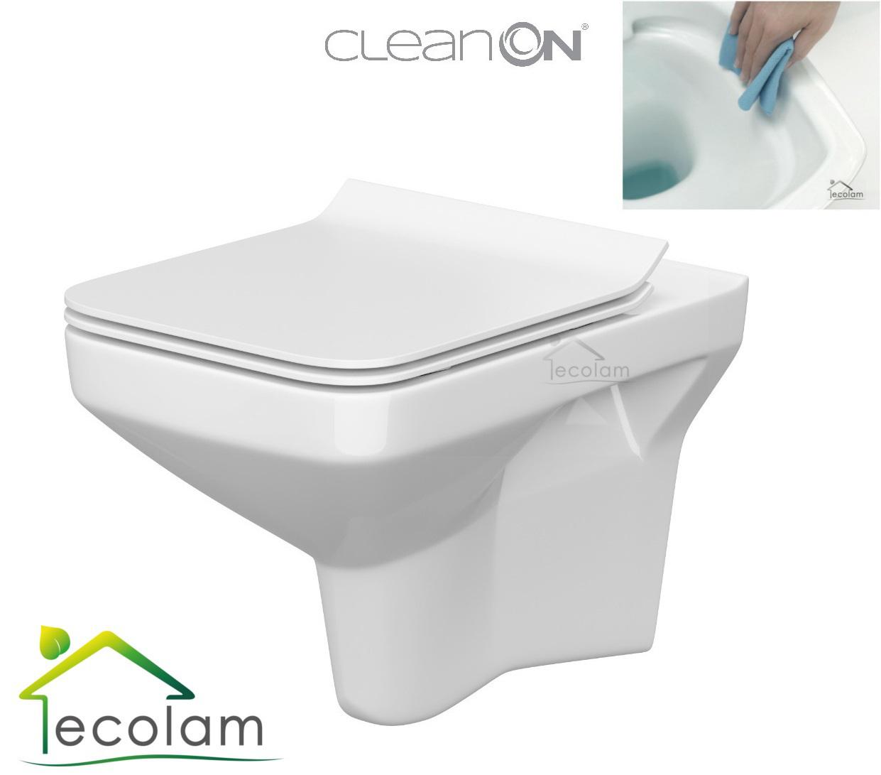 wc toilette hängend wandhängend spülrandlos clean on tiefspüler soft
