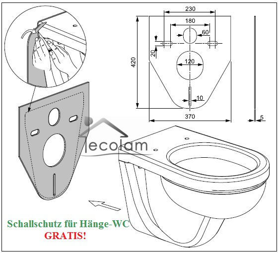 set wc vorwandelement wand toilette 85cm h ngend unterputz sp lkasten tiefsp ler ebay. Black Bedroom Furniture Sets. Home Design Ideas