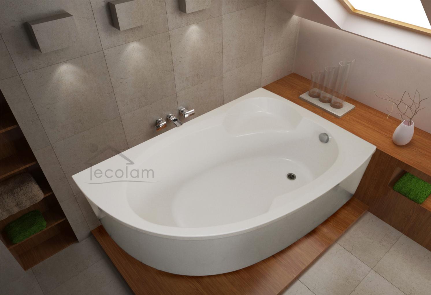 badewanne wanne acryl eckbadewanne wei 170 x 100 sch rze. Black Bedroom Furniture Sets. Home Design Ideas