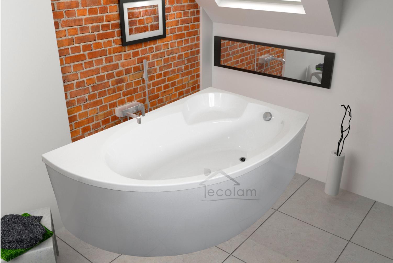 badewanne wanne acryl eckbadewanne 170 x 100 cm sch rze. Black Bedroom Furniture Sets. Home Design Ideas