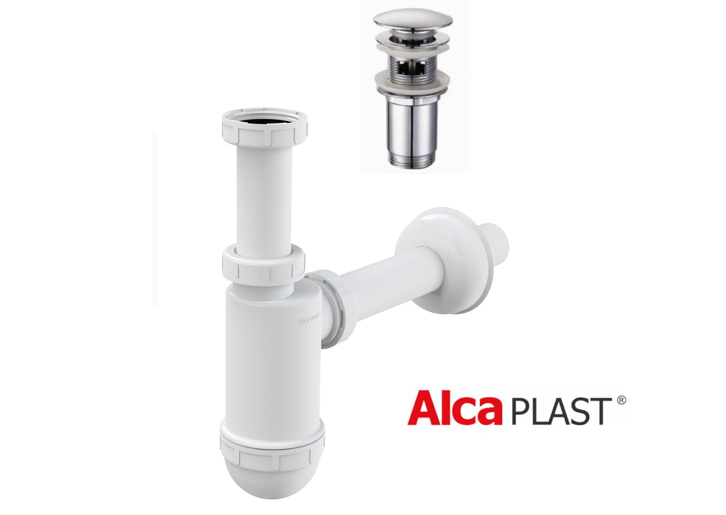 Waschtisch-Siphon Siphon für Waschbecken Ablaufgarnitur Kupfereffekt Click-Clack