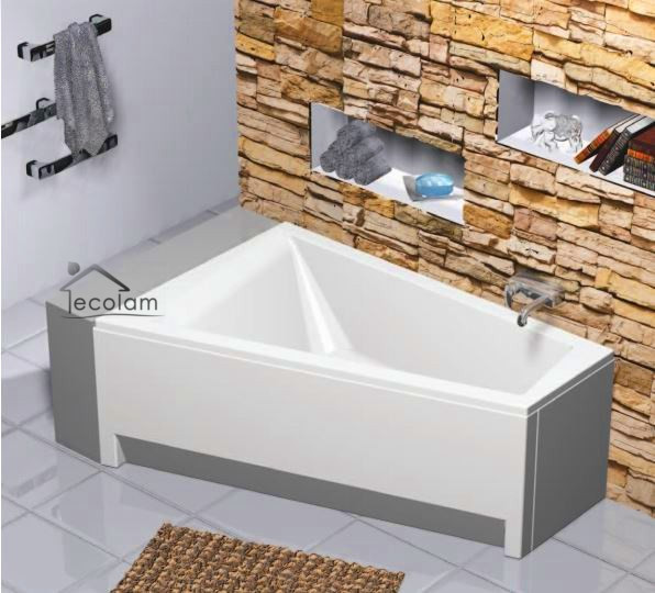 badewanne eckbadewanne trapez acryl 150 x100 cm ohne mit sch rze ablauf b links ebay. Black Bedroom Furniture Sets. Home Design Ideas