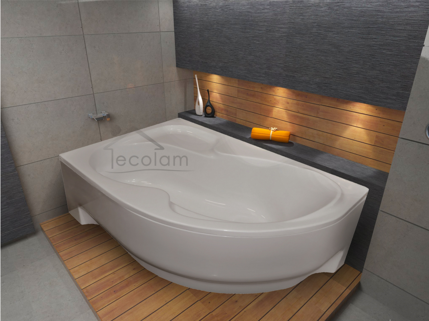 badewanne wanne eckwanne acryl 160 x 100 cm sch rze wannentr ger ablauf links fo ebay. Black Bedroom Furniture Sets. Home Design Ideas