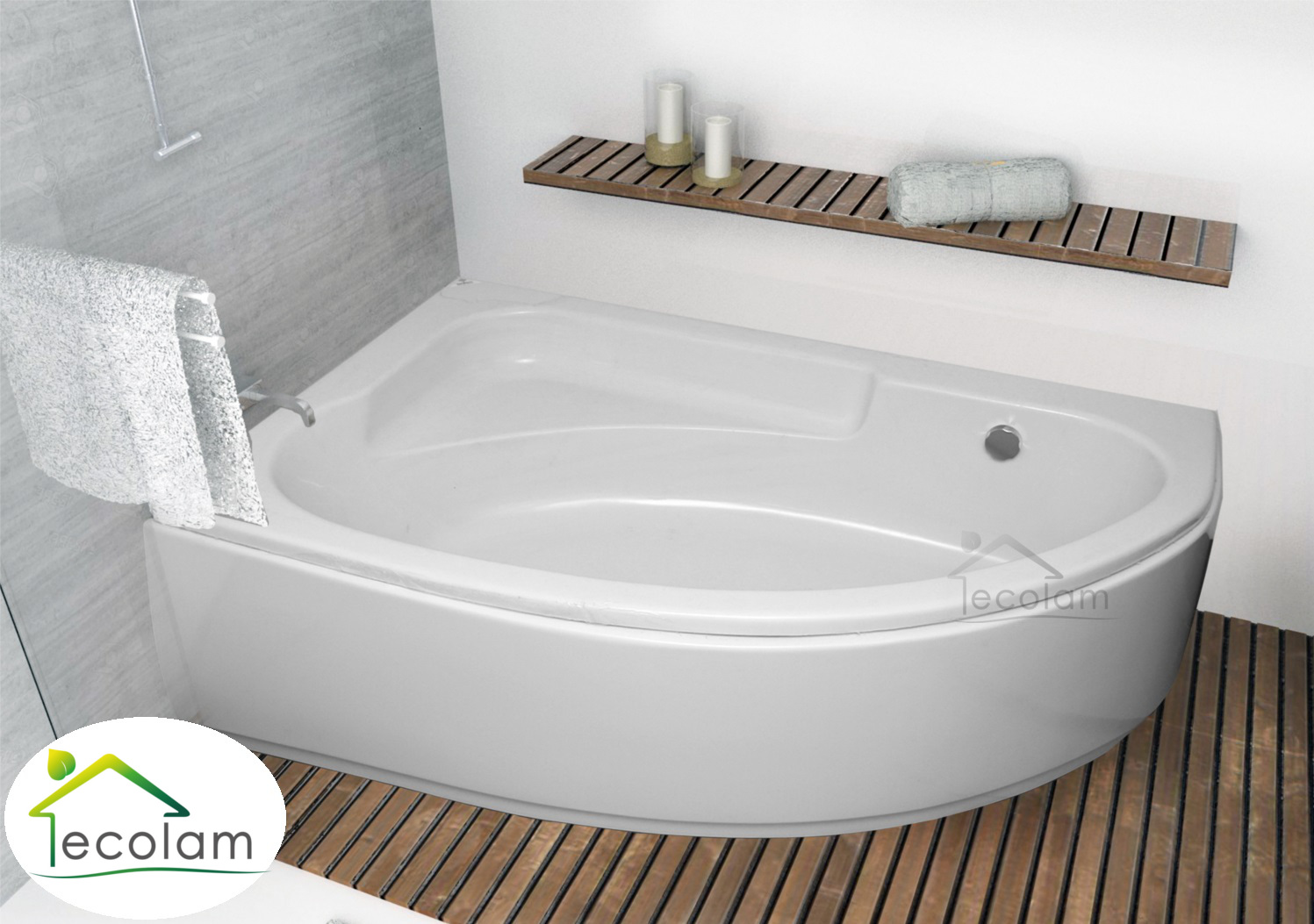 badewanne wanne eckwanne acryl 150 x 100 cm sch rze f e ablauf silikon links ebay. Black Bedroom Furniture Sets. Home Design Ideas