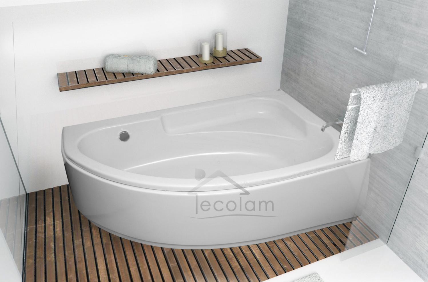 badewanne wanne eckwanne acryl 175 x 110 cm sch rze f e. Black Bedroom Furniture Sets. Home Design Ideas