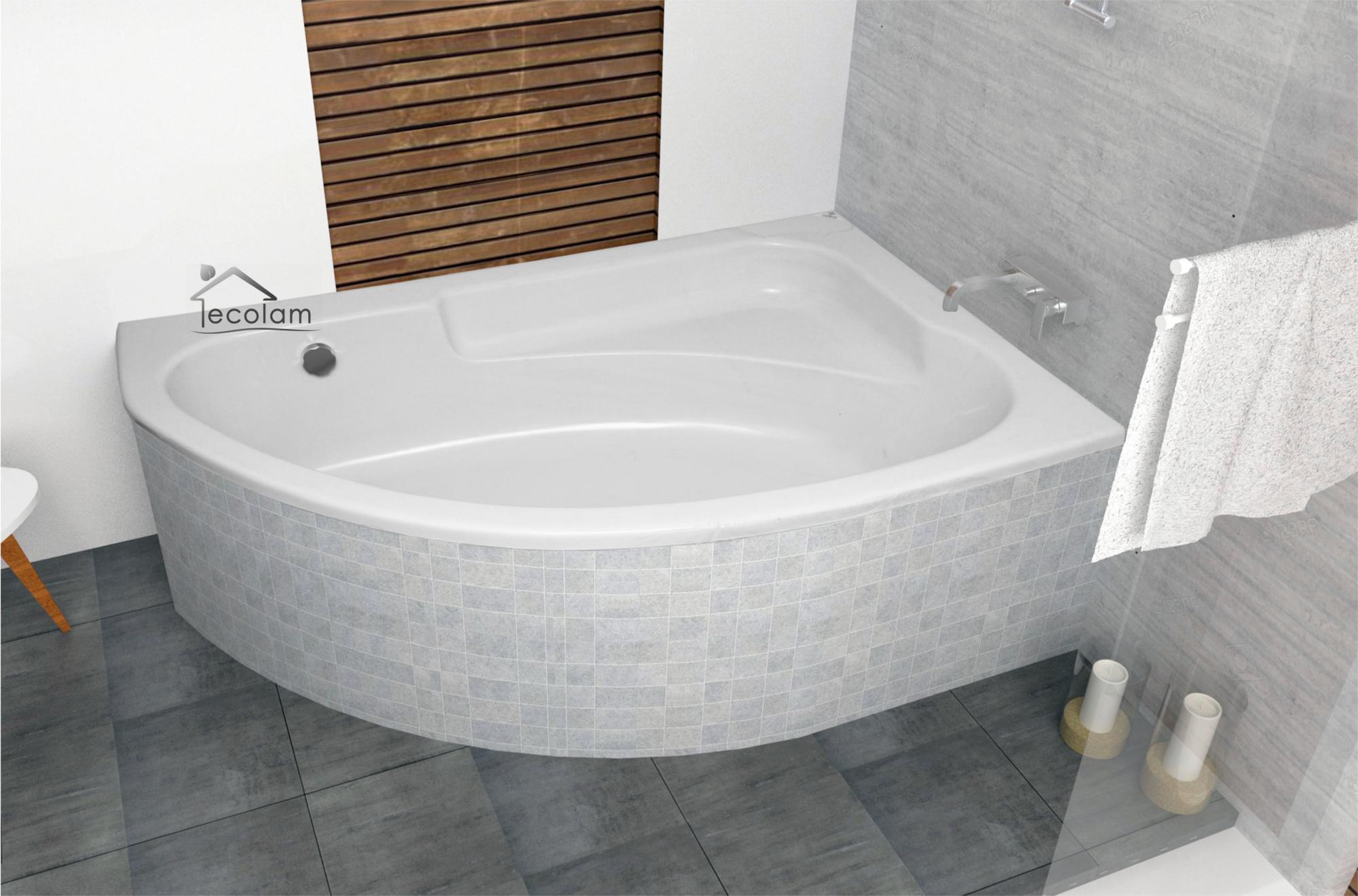 badewanne eckbadewanne 145 x 95 wannentr ger styropor. Black Bedroom Furniture Sets. Home Design Ideas