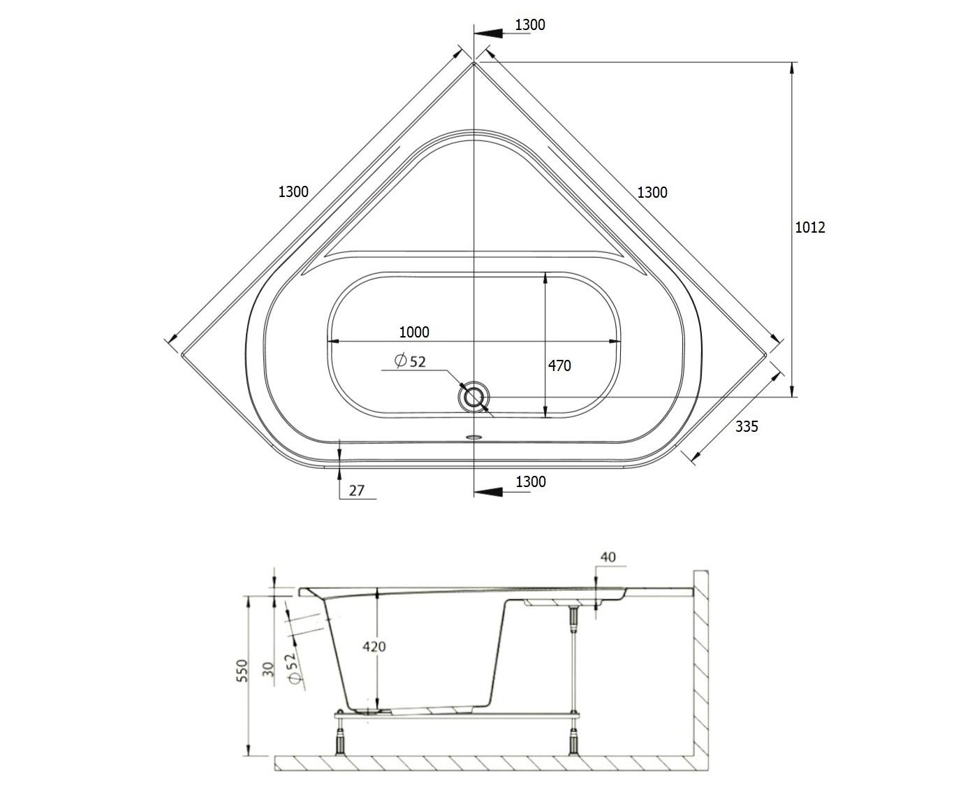 badewanne wanne acryl eckwanne eckig 130 x 130 cm ohne mit wannentr ger ablauf d ebay. Black Bedroom Furniture Sets. Home Design Ideas