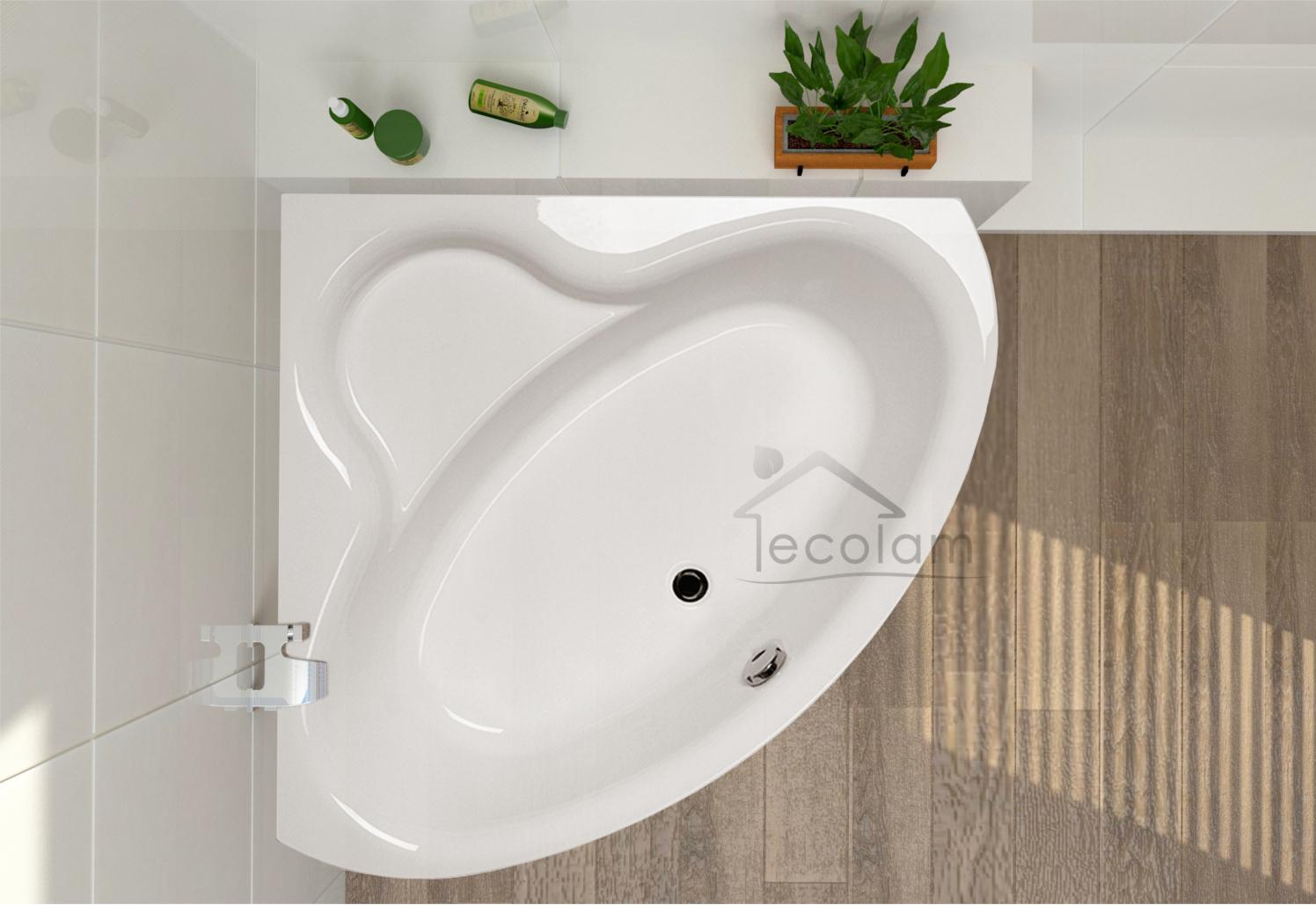 badewanne wanne eckbadewanne symmetrisch acryl 130 x 130. Black Bedroom Furniture Sets. Home Design Ideas