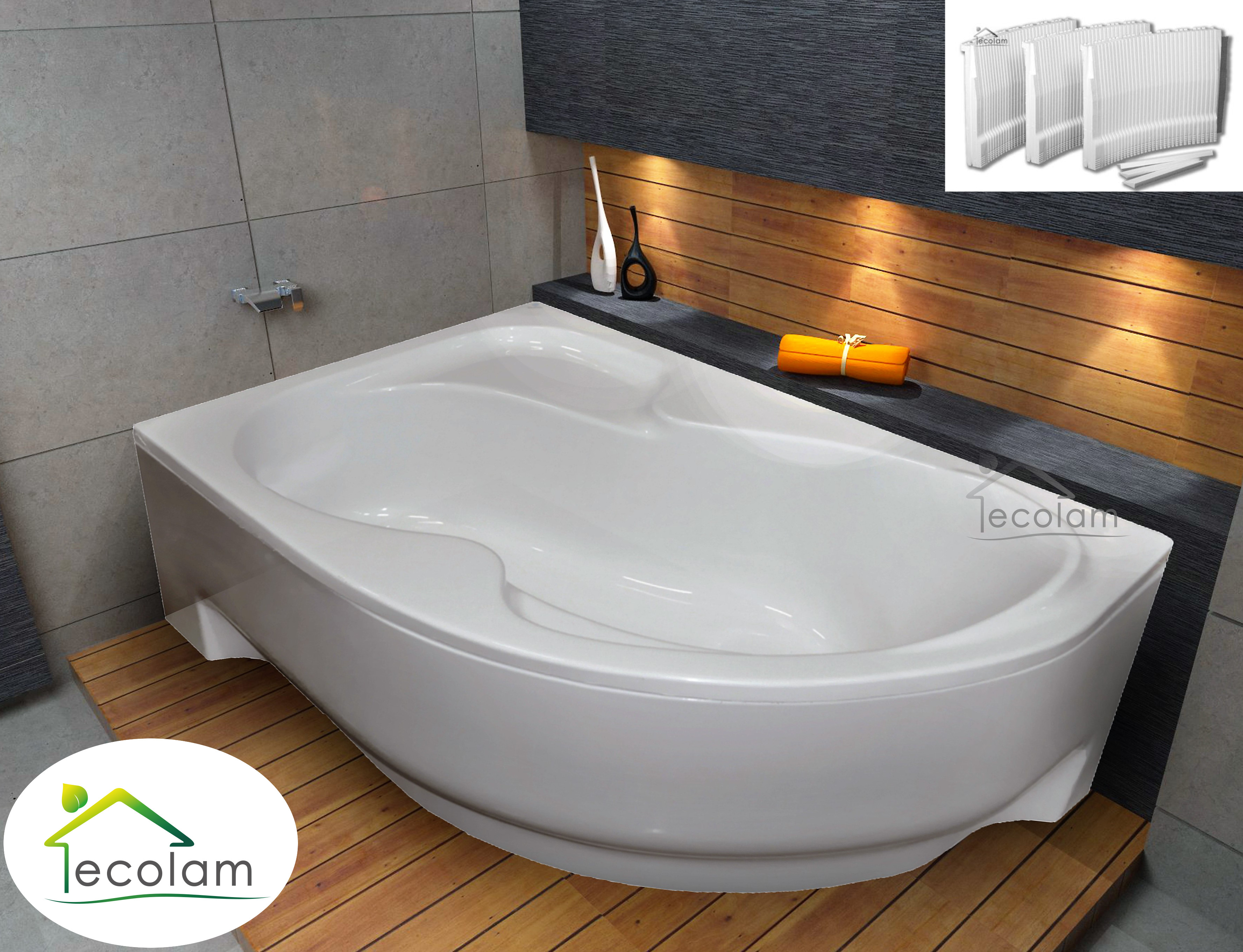 badewanne wanne eckwanne acryl 150 160 170 x 100 cm sch rze styropor links ebay. Black Bedroom Furniture Sets. Home Design Ideas