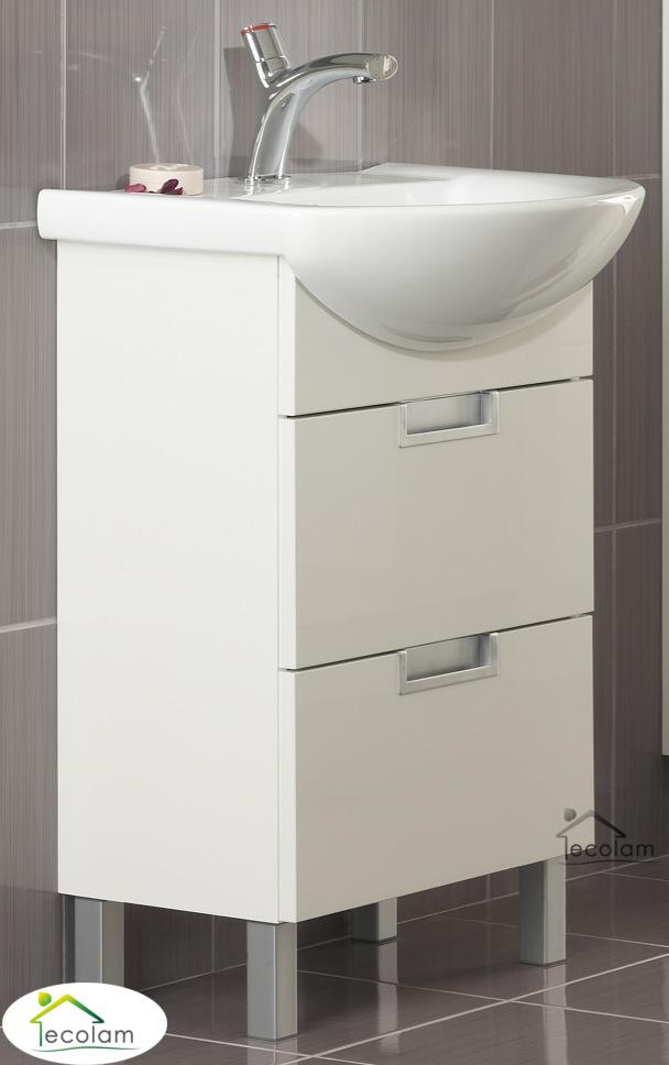 badm bel waschbecken 60 cm waschtisch waschbeckenunterschrank schubladen d l ebay. Black Bedroom Furniture Sets. Home Design Ideas