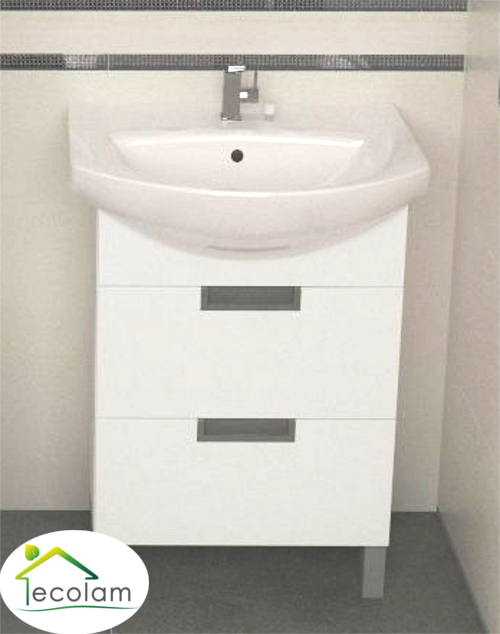 badm bel waschbecken 50 cm waschtisch waschbeckenunterschrank schubladen l d ebay. Black Bedroom Furniture Sets. Home Design Ideas