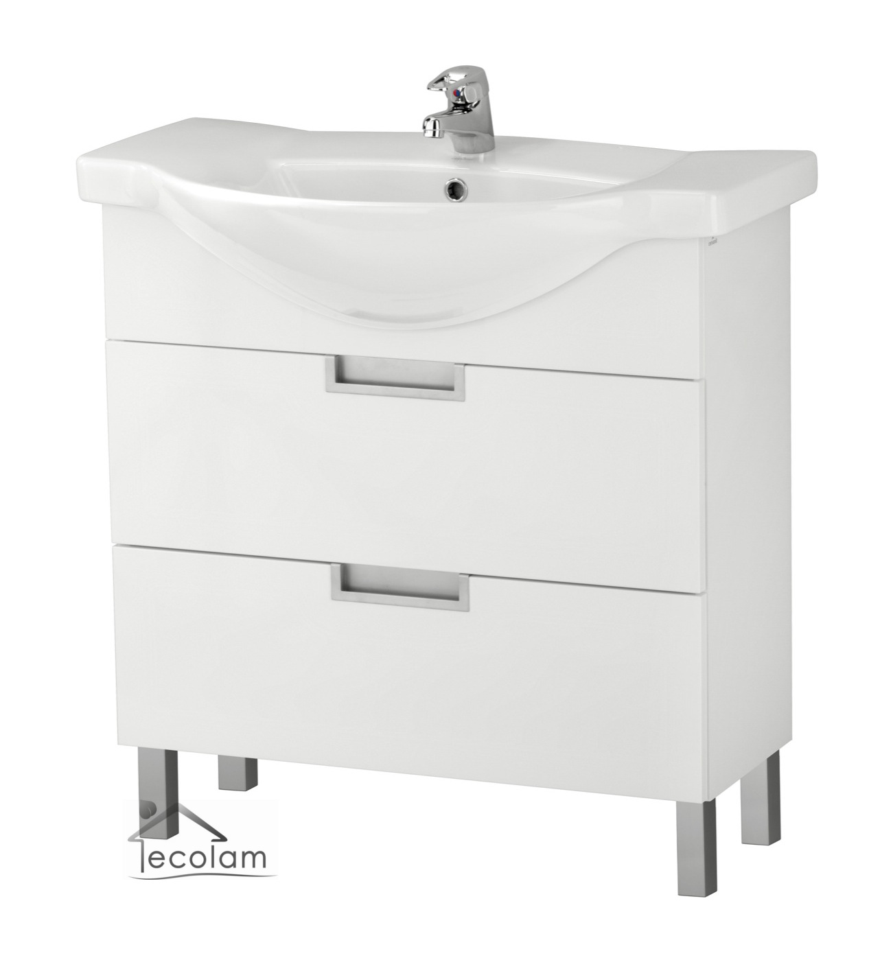 badm bel waschbecken 80 cm waschtisch waschbeckenunterschrank schubladen d l ebay. Black Bedroom Furniture Sets. Home Design Ideas